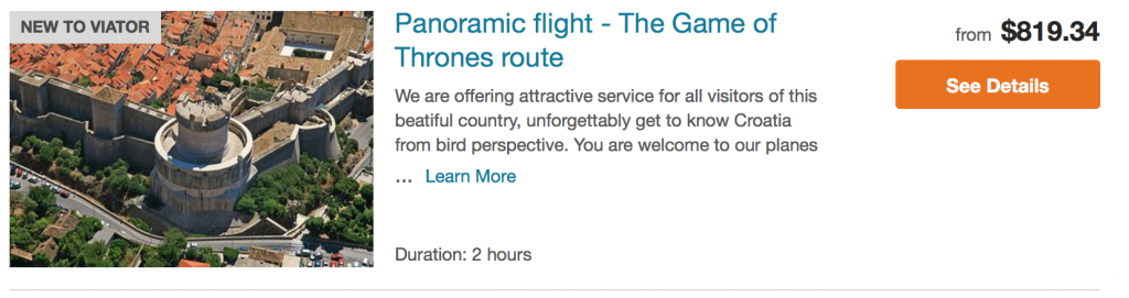 Game of Thrones Panoramic Flight