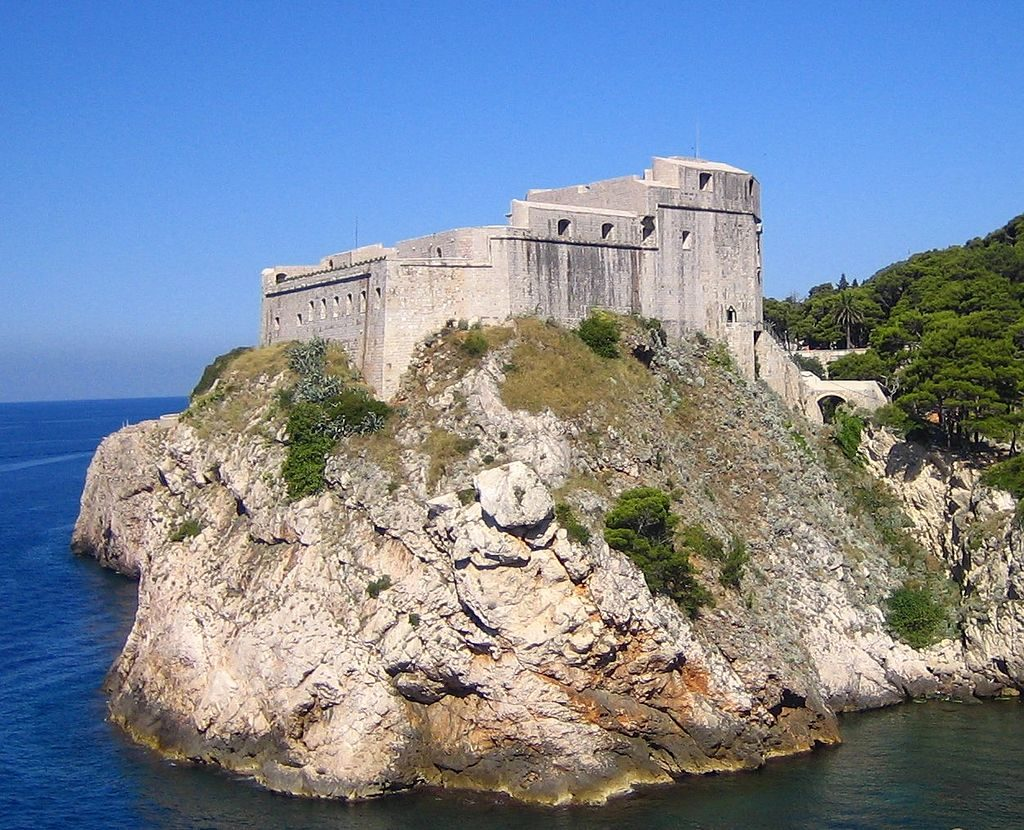 Dubrovnik game of thrones locations - Fort Lovrijenac