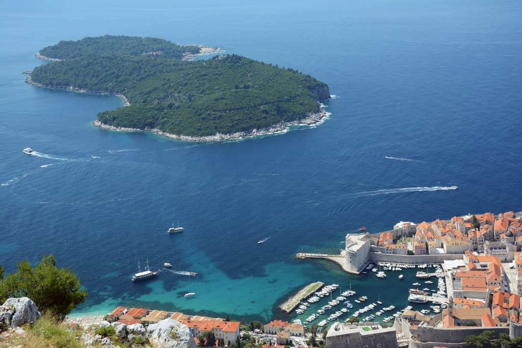 Lokrum Game of Thrones - Lokrum Island from Above