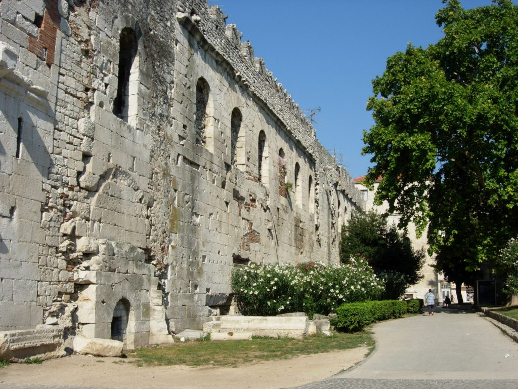 Northern Wall of Diocletian's Palace from the outside